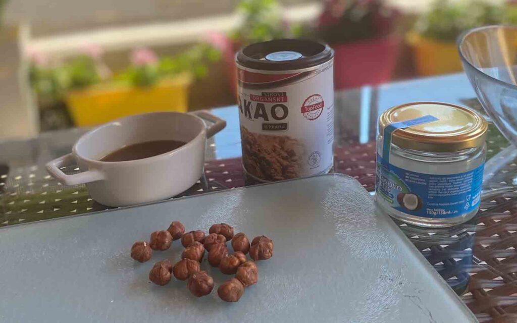 praline sastojci kako kokosovo ulje med i lešnici